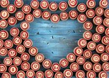 Fondo blu con i numeri Immagini Stock
