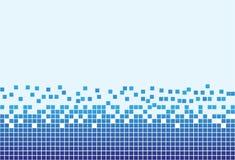 Fondo blu con i pixel Immagini Stock