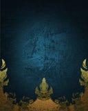 Fondo blu con l'ornamento Elemento per progettazione Mascherina per il disegno copi lo spazio per l'opuscolo dell'annuncio o l'in Immagine Stock Libera da Diritti