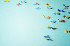 Fondo con le farfalle Fotografia Stock Libera da Diritti