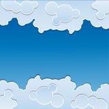 Fondo blu con le nuvole Immagine Stock