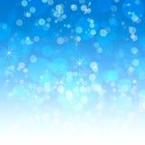 Fondo blu con un bokeh Fotografia Stock Libera da Diritti
