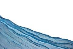 Fondo blu d'angolo di Aqua Water Wavy Fabric Textured fotografie stock libere da diritti