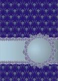 Fondo blu d'annata con la struttura floreale Fotografia Stock Libera da Diritti