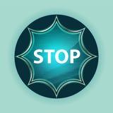 Fondo blu degli azzurri del bottone dello sprazzo di sole vetroso magico di arresto fotografie stock libere da diritti