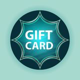Fondo blu degli azzurri del bottone dello sprazzo di sole vetroso magico della carta di regalo fotografia stock
