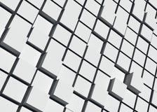 Fondo blu dei cubi, 3d rappresentazione, stile del bacground, toni leggeri fotografia stock