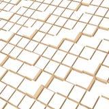 Fondo blu dei cubi, 3d rappresentazione, stile del bacground, toni leggeri immagini stock