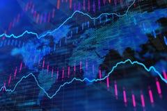 Fondo blu dei forex Immagini Stock