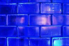 Fondo blu dei mattoni di vetro Immagine Stock Libera da Diritti