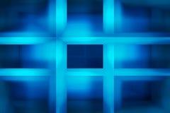 Fondo blu dei raggi luminosi Fotografia Stock Libera da Diritti