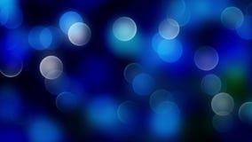 Fondo blu del bokeh creato dalle luci al neon Immagine Stock