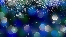 Fondo blu del bokeh creato dalle luci al neon 4K Fotografia Stock