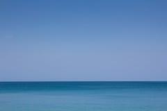 Fondo blu del cielo e del mare Fotografie Stock