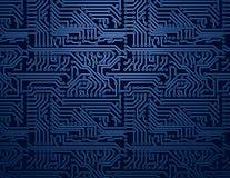 Fondo blu del circuito di vettore Immagini Stock