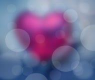 Fondo blu del cuore Immagine Stock
