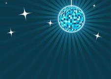 Fondo blu del discoball Fotografie Stock