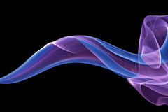 Fondo blu del fumo Immagine Stock