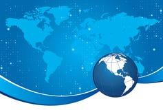 Fondo blu del globo Immagine Stock