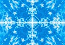 Fondo blu del modello del caleidoscopio Fotografia Stock