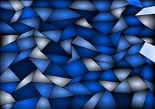 Fondo blu del mosaico delle mattonelle di vettore Fotografie Stock Libere da Diritti