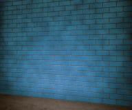 Fondo blu del muro di mattoni immagine stock
