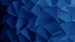 Fondo blu del poligono Fotografie Stock