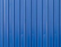 Fondo blu del recinto del metallo Immagini Stock Libere da Diritti