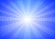 Fondo blu del sole Fotografia Stock