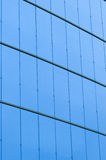 Fondo blu dell'acciaio e di vetro Fotografia Stock