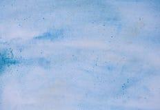 Fondo blu dell'acquerello Fotografie Stock Libere da Diritti