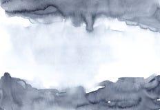 Fondo blu dell'acquerello della peonia della marina per progettazione illustrazione vettoriale