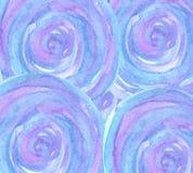 Fondo blu dell'acquerello e viola rotondo illustrazione di stock