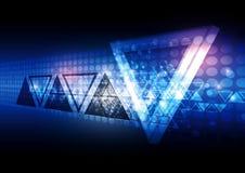 Fondo blu dell'estratto del triangolo illustrazione vettoriale