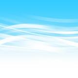Fondo blu dell'estratto dell'onda Immagini Stock Libere da Diritti
