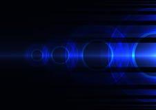 Fondo blu dell'estratto dell'onda di frequenza illustrazione vettoriale
