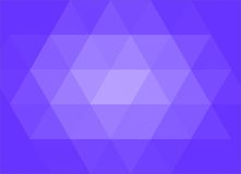Fondo blu dell'estratto di triangolazione Immagini Stock