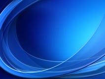 Fondo blu dell'estratto di Wave leggero illustrazione vettoriale