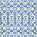 Fondo blu dell'incrocio Ornamenti geometrici tradizionali Fotografia Stock