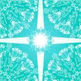 Fondo blu dell'ornamento floreale Immagine Stock Libera da Diritti