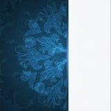 Fondo blu dell'ornamento floreale Immagini Stock Libere da Diritti