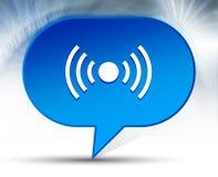 Fondo blu della bolla dell'icona del segnale della rete illustrazione di stock
