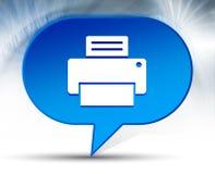 Fondo blu della bolla dell'icona di stampante illustrazione vettoriale