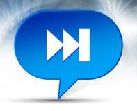 Fondo blu della bolla della pista dell'icona seguente della lista musicale radiofonica fotografia stock libera da diritti
