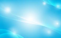 Fondo blu della luce dell'estratto del chiarore Immagini Stock