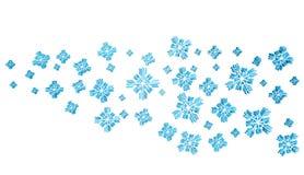 Fondo blu della neve di Natale Immagini Stock Libere da Diritti