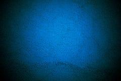 Fondo blu della parete con progettazione del confine di struttura Fotografia Stock