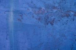 Fondo blu della parete dipinto annata strutturata Fotografia Stock Libera da Diritti