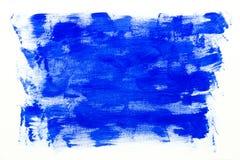 Fondo blu della pittura su bianco Fotografia Stock
