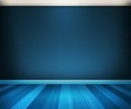Fondo blu della stanza Fotografie Stock